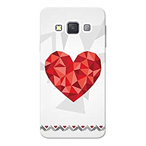 INKIF Eiffel Tower Designer Case Printed Mobile Back Cover for Samsung Galaxy A3 (Red)