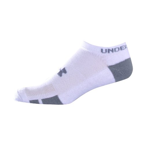 Under Armour Men's Resistor No Show 6-Pack Socks by Under Armour Large White