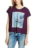 Cross Jeans Camiseta Manga Corta (Ciruela)