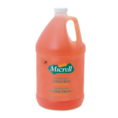 GOJO Professional 975504 Micrell Antibacterial Lotion Soap 1 Gallon Bottle (4-Pack)