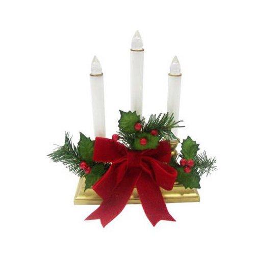 Noma/Inliten-Import V24387 3-Light Led Holy Candle