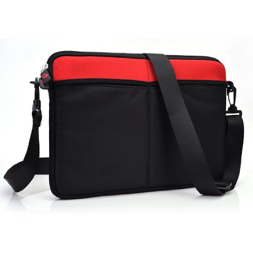 12-13 inch Laptop Crossbody Bag fits Sony VPCS131FM/s, Red