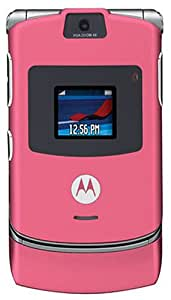 Motorola RAZR V3 Unlocked Phone with Camera, Video Player--International Version with No Warranty (Satin Pink)