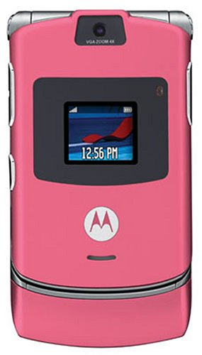 Motorola RAZR V3 Unlocked Cell Phone with Video Player--International Version with No Warranty (Satin Pink)