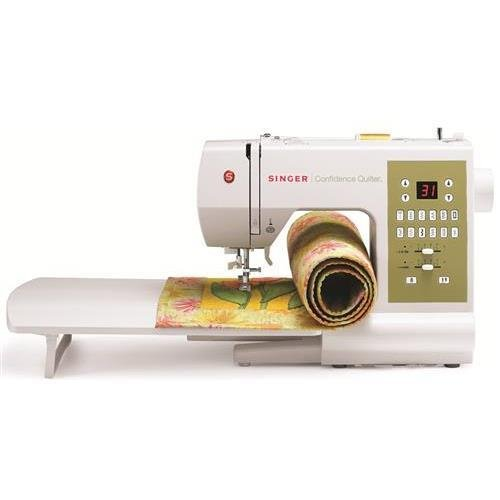 Singer 7469Q Confidence Quilter Electric Sewing Machine, 98 Built-In Stitches, Top Loading, Double Needle Position