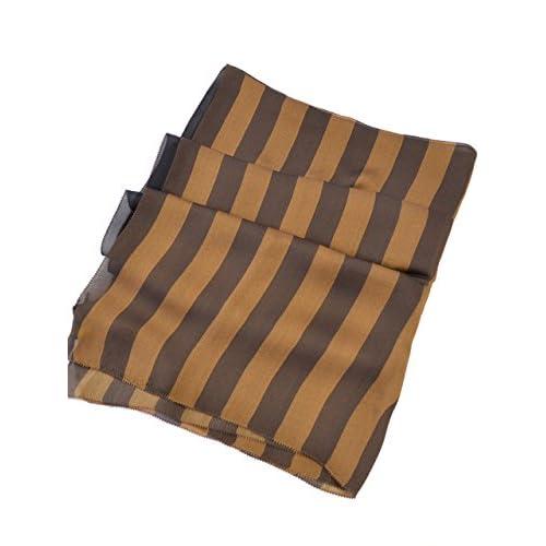 (フェンディ) FENDI スカーフ FXT031 HUZF00A1 ブラウン ブラック 並行輸入品