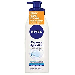 Nivea Express Hydration Body Lotion for Normal to Dry Skin, 16.9 Fluid Ounce
