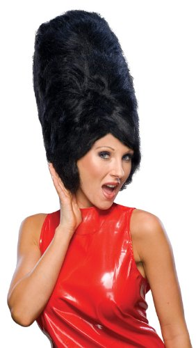 Rubie's Costume Fabulous 50's Beehive Wig, Black, One Size