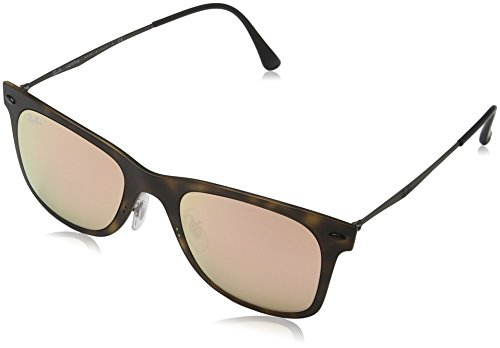Ray-Ban-INJECTED-MAN-SUNGLASS-MATTE-HAVANA-Frame-COPPER-FLASH-Lenses-50mm-Non-Polarized