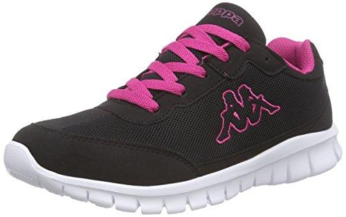 KappaROCKET Footwear unisex, Mesh/Synthetic - Scarpe da Ginnastica Basse Donna , Nero (Schwarz (1127 black/pink)), 40