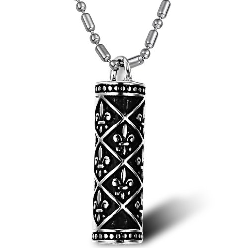 Opk Jewellery Fashion Stainless Steel Necklace National Style Cylindrical Vintage Men's Cool Pendant Necklets,Men's Necklace