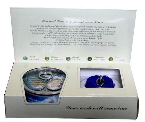 Great Gift Love Wish Pearl in Oyster Pendant Necklace 18k GP