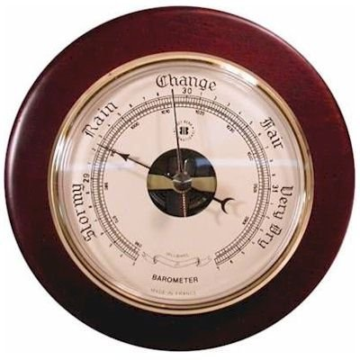 Brass Precision Barometer on Cherry Wood from Bey-Berk