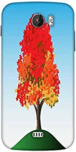 Snoogg Colorful Tree Designer Protective Back Case Cover For Micromax A110