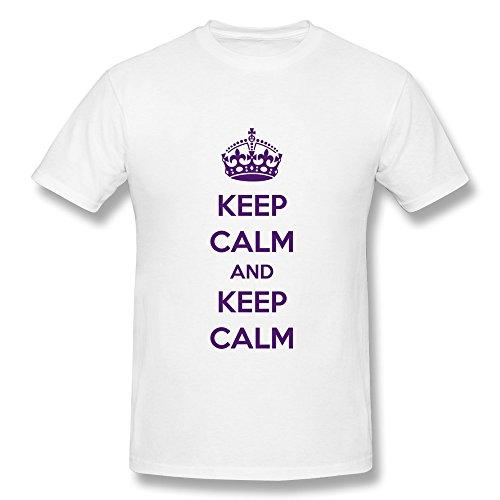 Customized Crew Neck Funny Keep Calm Keep Calm Men'S T Shirt