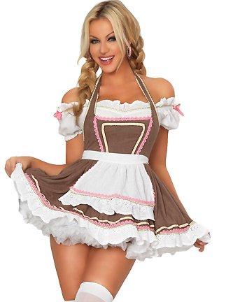 3WISHES 'Alpine Ale Girl Costume' Oktoberfest Sexy Beer Girl Costumes for Women