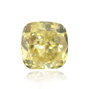 Yellow Loose Diamond Cushion Cut Natural Fancy Color GIA Certificate 1.15Ct VS2