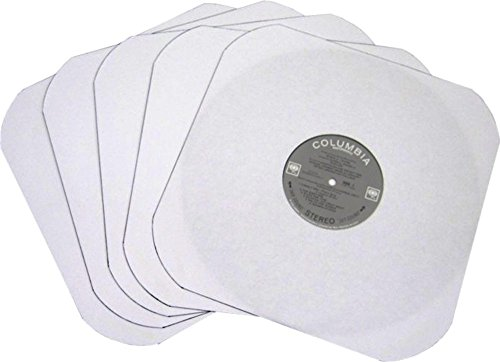 50-12-LP-Album-White-Paper-Vinyl-Record-Sleeves-Protectors-Heavy-20-Weight-Paper-With-Hole-For-Viewing-Label