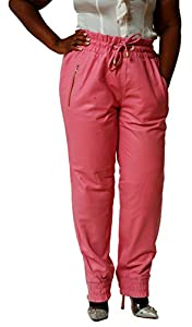 CD D C Women's Leather Sweat Pants / Joggers S x 30 Pastel Pink