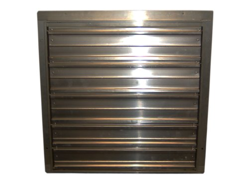 "Tpi Corporation Ces-24-G Direct Drive Exhaust Fan Wall Shutter, 24"" Diameter"