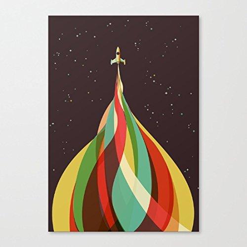 fiyejiek Pinguino Bouquet Stampa Artistica Su Tela con cornice in legno, CP04, 30,48 cm x 40,64 cm