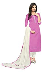 Shree Vardhman Fashion Pink Bhagalpuri Dress Material