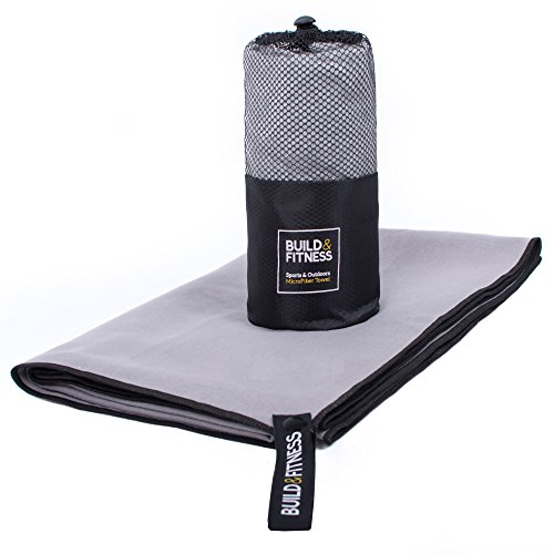 Microfiber Towel. Sports/Travel Towel, Lightweight, Compact, Quick Drying, Super Absorbent, Antibacterial. Fitness, Outdoors, Camping, Beach, Pool, Gym, Yoga. Branded Hanger, Mesh Bag. 30