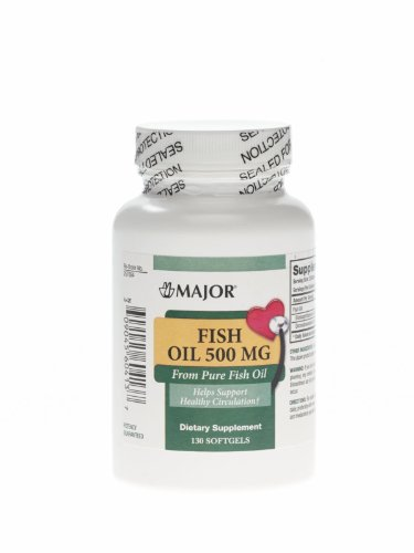 Fish Oil Softgels, Fish Oil 500 Mg Sg 130/Bt - 1 Ea