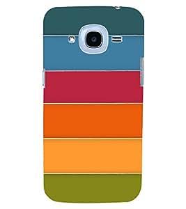 PrintVisa Color Stripes Pattern 3D Hard Polycarbonate Designer Back Case Cover for SAMSUNG GALAXY J2(2016 Edition)