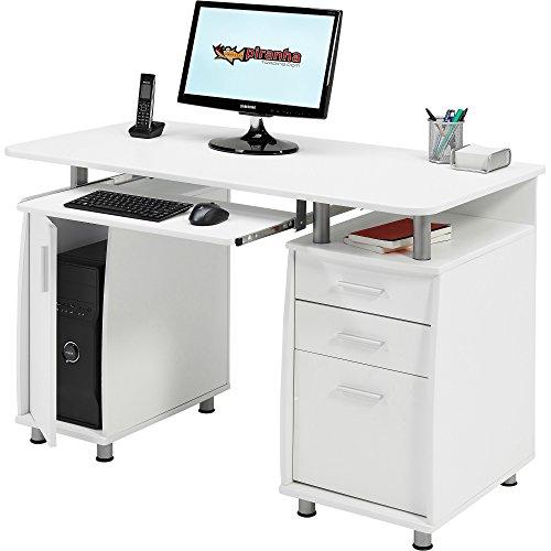 Piranha-Groer-Computertisch-mit-3-Schubladen-und-einem-Unterschrank-in-wei-PC-2s
