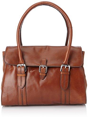 Clarks Toronto Lake 261042290, Borsa a mano Donna, Marrone (Braun (Tan Leather)), 33 x 25 x 15 cm (L x A x P)