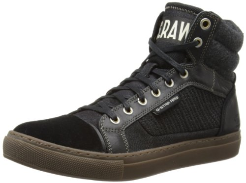 G Star Mens Augur Samovar High-Top GS52051/40A Black/Denim 9 UK, 43 EU, 10 US