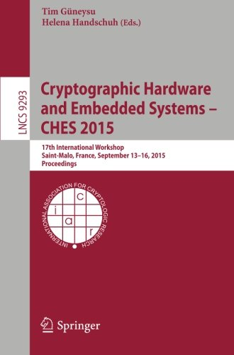 Großformat des Buches: Cryptographic Hardware and Embedded Systems (CHES 2015)