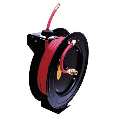 ReelWorks Air Hose Reel With Hose - 3 8in x 25ft Hose Max 300 PSIB0000AXC95 : image
