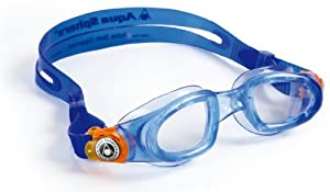 Aqua Sphere Moby Kid Swim Goggle (Clear Lens, Blue Frame)
