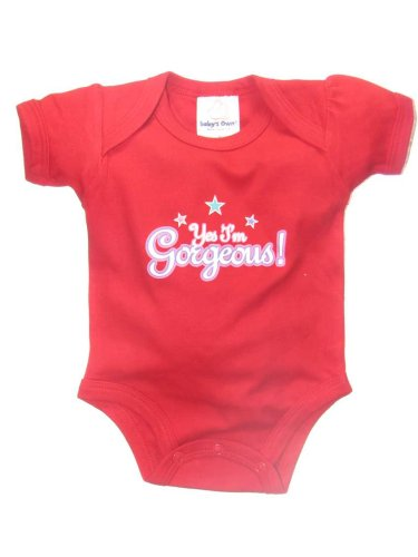 Yes I'm Gorgeous! Short Sleeve Onezie by Baby's Own - Buy Yes I'm Gorgeous! Short Sleeve Onezie by Baby's Own - Purchase Yes I'm Gorgeous! Short Sleeve Onezie by Baby's Own (Baby's Own, Baby's Own Apparel, Baby's Own Toddler Girls Apparel, Apparel, Departments, Kids & Baby, Infants & Toddlers, Girls, Shirts & Body Suits, Body Suits)