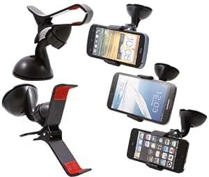 SuperClaw Universel support de voiture pour téléphone mobile Apple iPhone4/4S, iPhone5, Samsung Galaxy S3, Apple iPod touch, GPS(garantie de libre 2 ans)