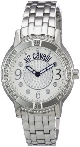 Just Cavalli Women's R7253161515 Crystal Quartz Silver Dial Watch