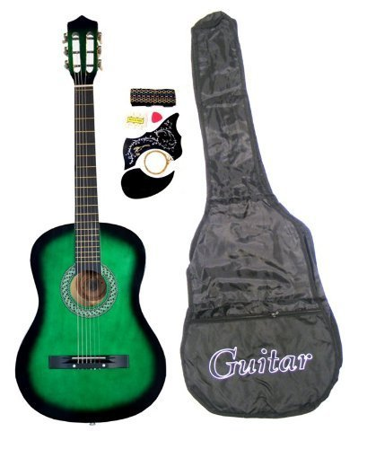 38-Inch-Student-Beginners-GREEN-Acoustic-Guitar-with-Carrying-Case-Accessories-DirectlyCheapTM-Translucent-Blue-Medium-Guitar-Pick-GR-AC38