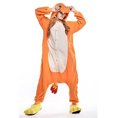 cosplay-Nueva-Cosplay-Charmander-Polar-Fleece-adultos-Kigurumi-pijama-Orange-Unisex