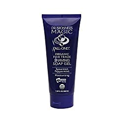 Dr. Bronner's Organic Shaving Gel Spearmint Peppermint, 7 oz