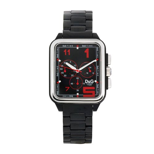Dolce & Gabbana D&G - Reloj manual para hombre con correa de caucho, color negro