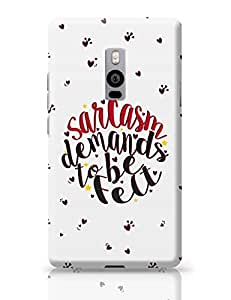 PosterGuy Saracsm Demands To Be Felt Quirky, Typography OnePlus Two Cover