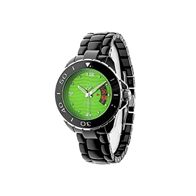 Android Women's Exotic Divemaster Swiss Quartz Ceramic Watch - Green Dial - AD418AKGR