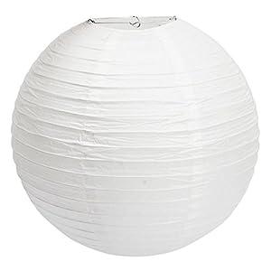 """TSSS 10 """"weiße runde Papierlaterne - (10 Stück)"""