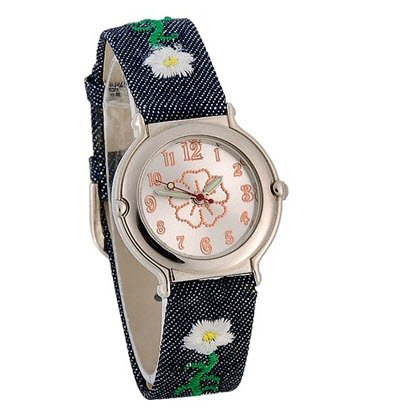 Flower Dial Cloth Band Women's Analog Watch (Ebel Type E compare prices)