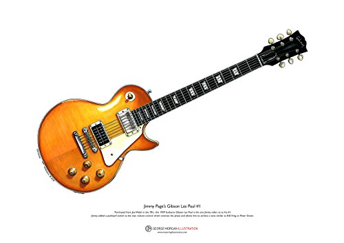 1959 Gibson Les Paul #1 ART POSTER de Jimmy Page taille A3
