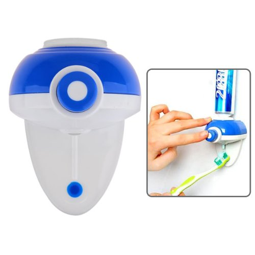New Life Style One Touch Automatic Toothpaste Dispenser & Squeezer - White + Blue By Preciastore