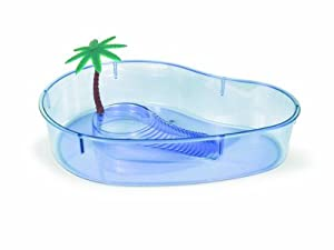 Lee's Turtle Lagoon, Kidney w/ Plant, 14-Inch by 10-1/8-Inch by 3-Inch