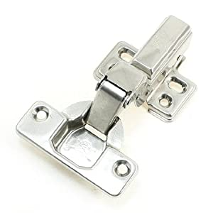 Metal Half Overlay Buffering Concealed Kitchen Cabinet Door Hinge